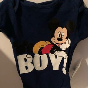 Other - 6/9 mo Disney Mickey Mouse oncie boy blue